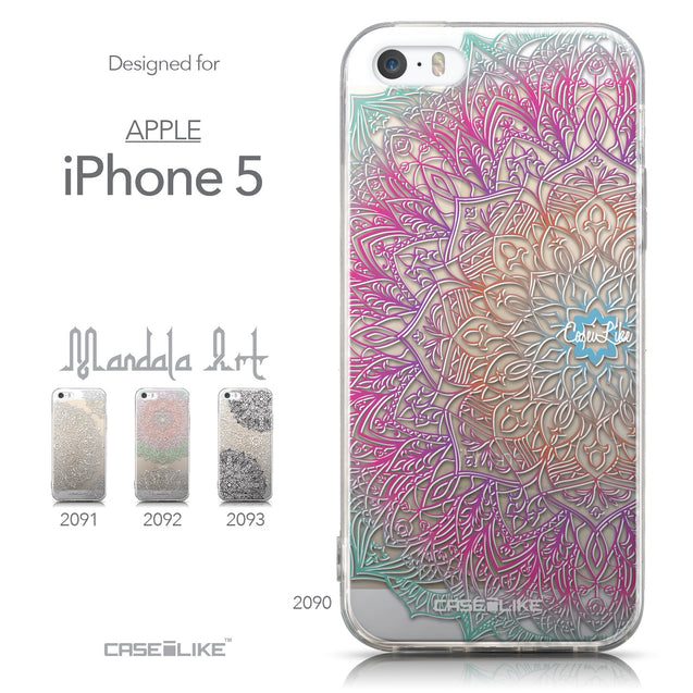 Collection - CASEiLIKE Apple iPhone 5GS back cover Mandala Art 2090