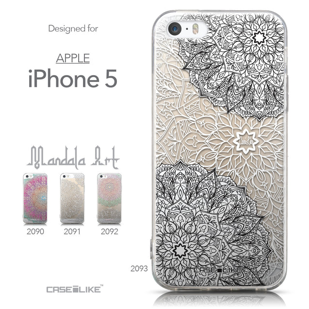 Collection - CASEiLIKE Apple iPhone 5GS back cover Mandala Art 2093