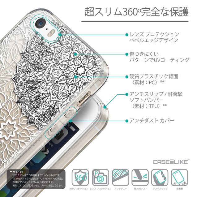 Details in Japanese - CASEiLIKE Apple iPhone 5GS back cover Mandala Art 2093