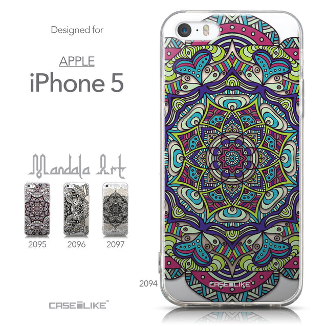Collection - CASEiLIKE Apple iPhone 5GS back cover Mandala Art 2094