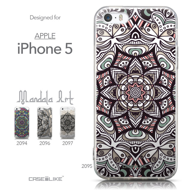 Collection - CASEiLIKE Apple iPhone 5GS back cover Mandala Art 2095