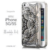 Front & Side View - CASEiLIKE Apple iPhone 5GS back cover Mandala Art 2096