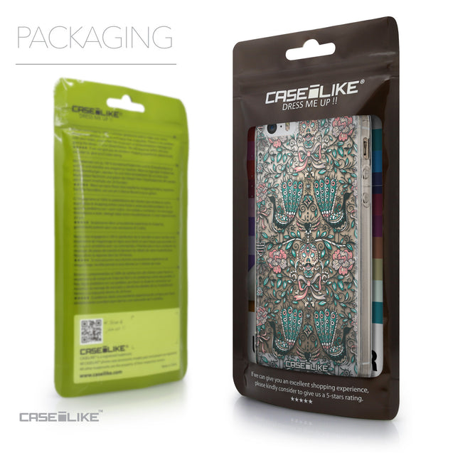 Packaging - CASEiLIKE Apple iPhone 5GS back cover Roses Ornamental Skulls Peacocks 2226