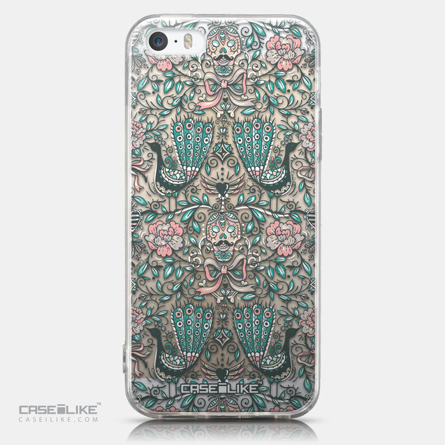 CASEiLIKE Apple iPhone 5GS back cover Roses Ornamental Skulls Peacocks 2226