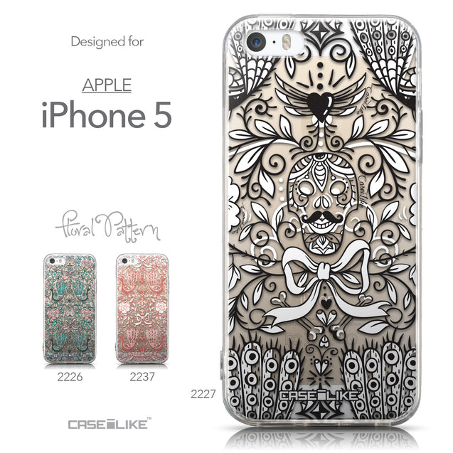 Collection - CASEiLIKE Apple iPhone 5GS back cover Roses Ornamental Skulls Peacocks 2227