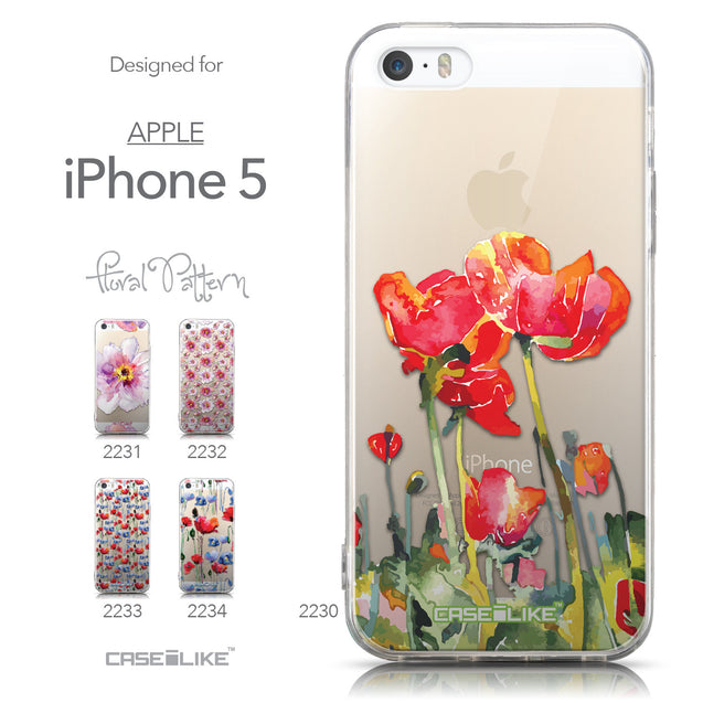 Collection - CASEiLIKE Apple iPhone 5GS back cover Watercolor Floral 2230