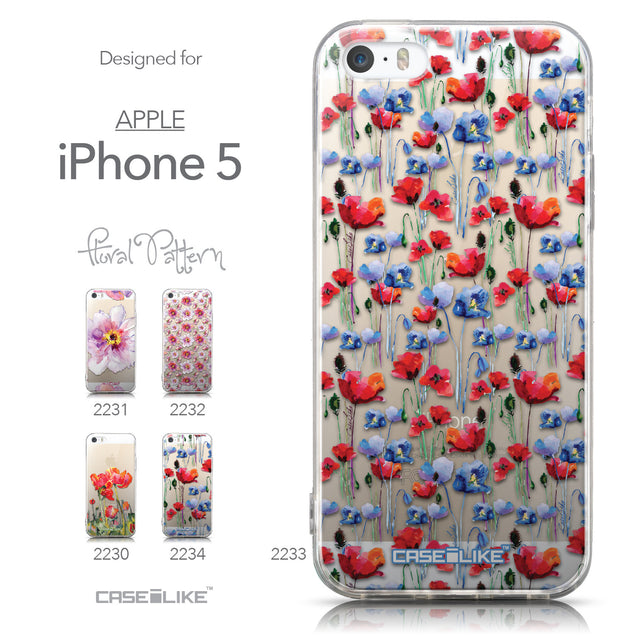 Collection - CASEiLIKE Apple iPhone 5GS back cover Watercolor Floral 2233
