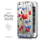 Front & Side View - CASEiLIKE Apple iPhone 5GS back cover Indian Line Art 2061