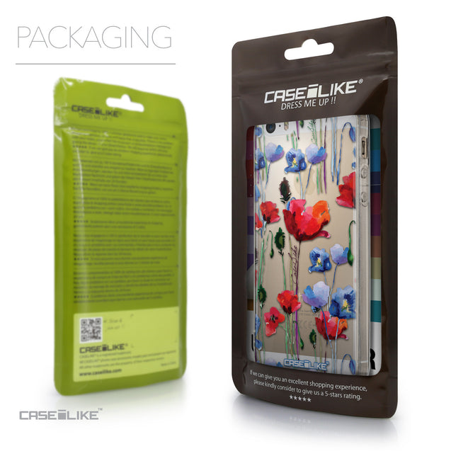 Packaging - CASEiLIKE Apple iPhone 5GS back cover Indian Line Art 2061