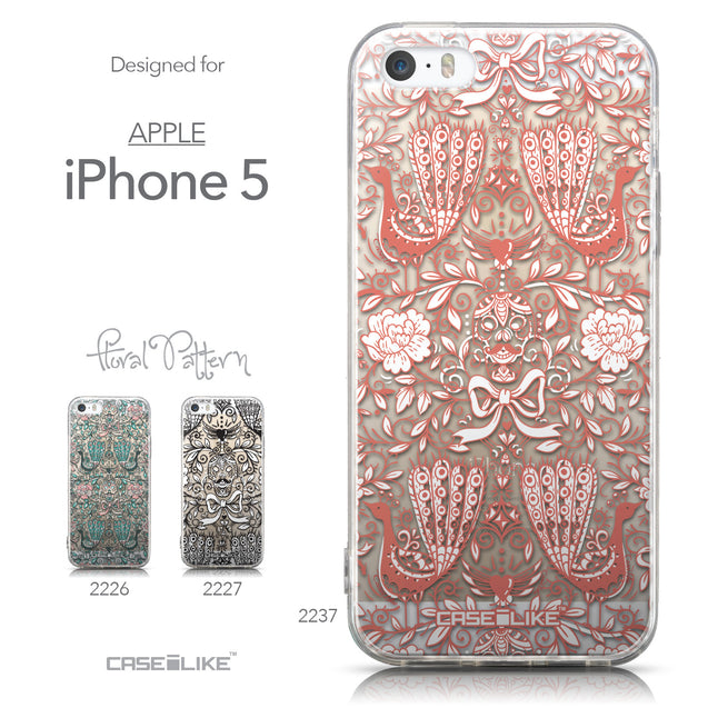 Collection - CASEiLIKE Apple iPhone 5GS back cover Roses Ornamental Skulls Peacocks 2237