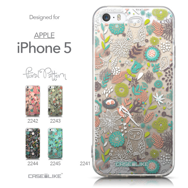 Collection - CASEiLIKE Apple iPhone 5GS back cover Spring Forest White 2241
