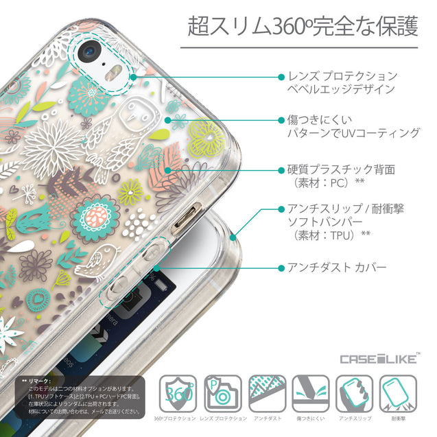 Details in Japanese - CASEiLIKE Apple iPhone 5GS back cover Spring Forest White 2241