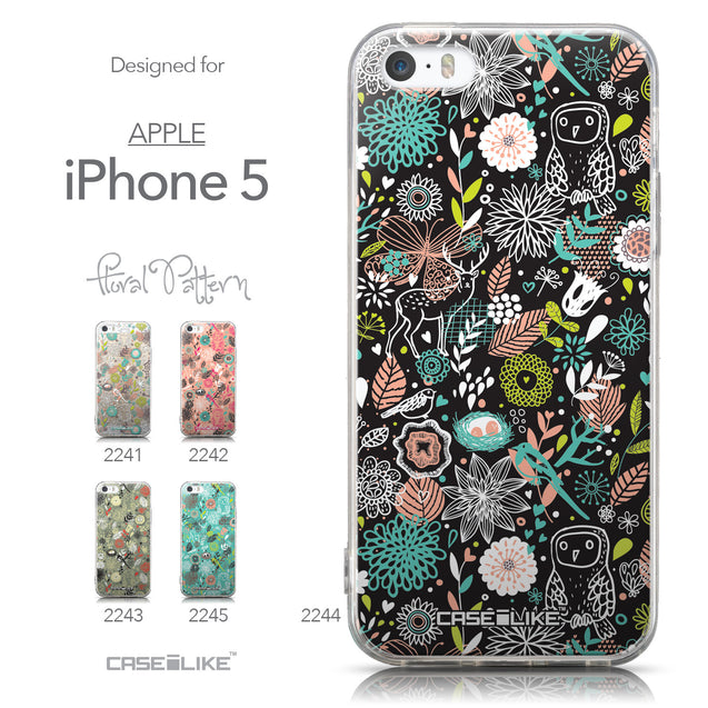 Collection - CASEiLIKE Apple iPhone 5GS back cover Spring Forest Black 2244