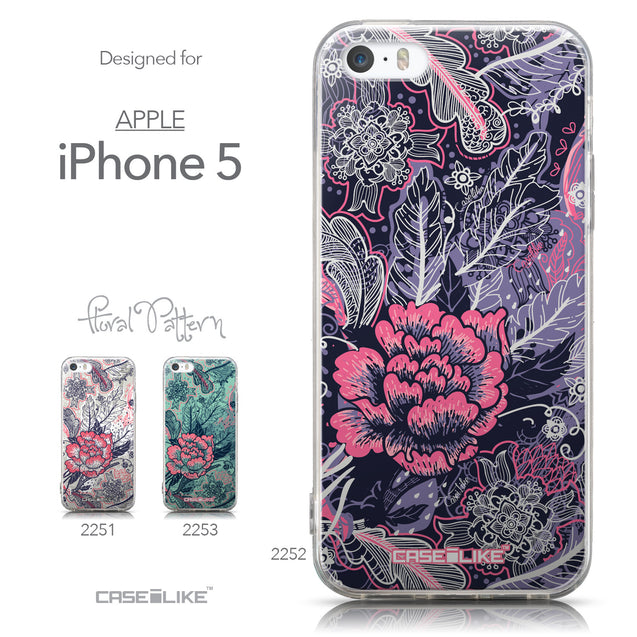 Collection - CASEiLIKE Apple iPhone 5GS back cover Vintage Roses and Feathers Blue 2252