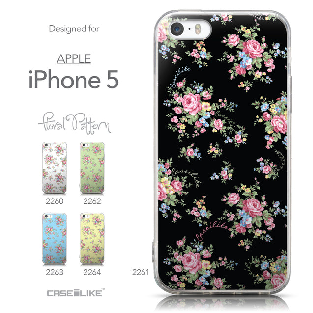 Collection - CASEiLIKE Apple iPhone 5GS back cover Floral Rose Classic 2261