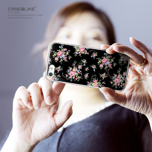 Share - CASEiLIKE Apple iPhone 5GS back cover Floral Rose Classic 2261