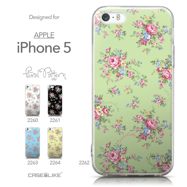 Collection - CASEiLIKE Apple iPhone 5GS back cover Floral Rose Classic 2262