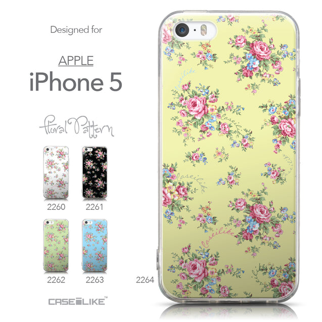 Collection - CASEiLIKE Apple iPhone 5GS back cover Floral Rose Classic 2264