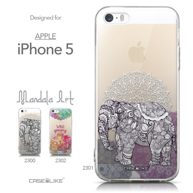 Collection - CASEiLIKE Apple iPhone 5GS back cover Mandala Art 2301