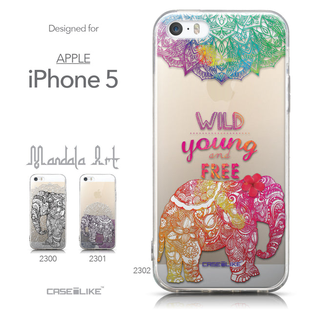 Collection - CASEiLIKE Apple iPhone 5GS back cover Mandala Art 2302