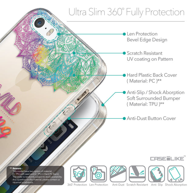 Details in English - CASEiLIKE Apple iPhone 5GS back cover Mandala Art 2302