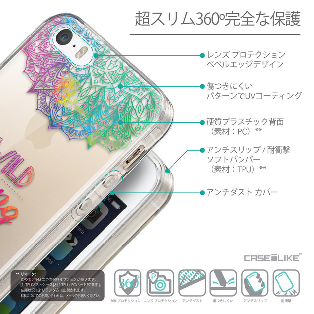 Details in Japanese - CASEiLIKE Apple iPhone 5GS back cover Mandala Art 2302