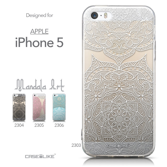 Collection - CASEiLIKE Apple iPhone 5GS back cover Mandala Art 2303