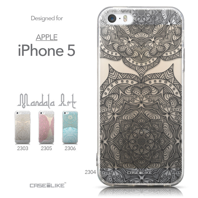 Collection - CASEiLIKE Apple iPhone 5GS back cover Mandala Art 2304