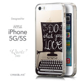 Front & Side View - CASEiLIKE Apple iPhone 5GS back cover Quote 2400
