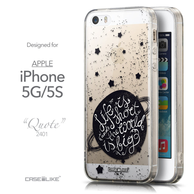Front & Side View - CASEiLIKE Apple iPhone 5GS back cover Quote 2401
