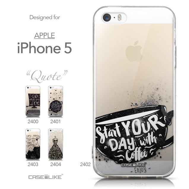 Collection - CASEiLIKE Apple iPhone 5GS back cover Quote 2402