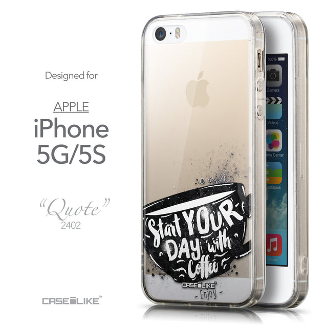 Front & Side View - CASEiLIKE Apple iPhone 5GS back cover Quote 2402
