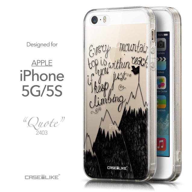 Front & Side View - CASEiLIKE Apple iPhone 5GS back cover Indian 2053 Tribal Theme Pattern