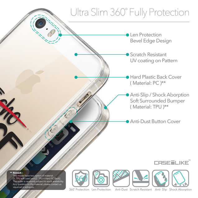 Details in English - CASEiLIKE Apple iPhone 5GS back cover Quote 2405