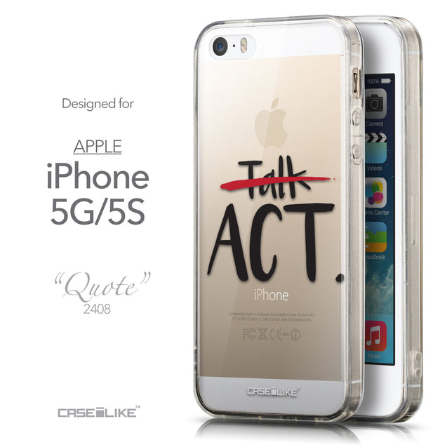 Front & Side View - CASEiLIKE Apple iPhone 5GS back cover Quote 2408