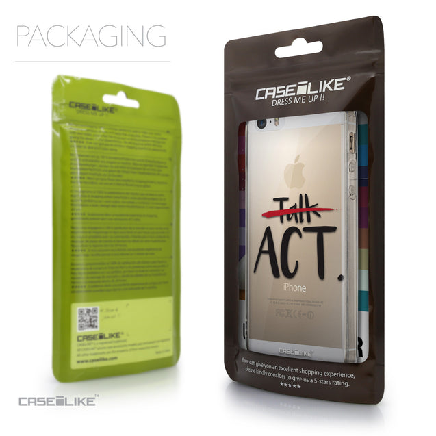Packaging - CASEiLIKE Apple iPhone 5GS back cover Quote 2408