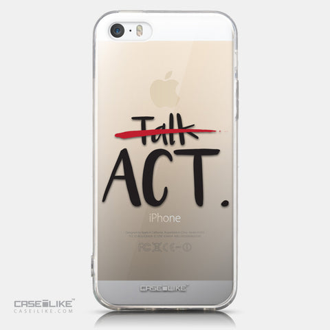CASEiLIKE Apple iPhone 5GS back cover Quote 2408