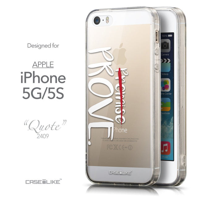 Front & Side View - CASEiLIKE Apple iPhone 5GS back cover Quote 2409