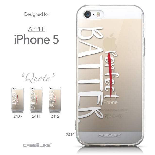 Collection - CASEiLIKE Apple iPhone 5GS back cover Quote 2410