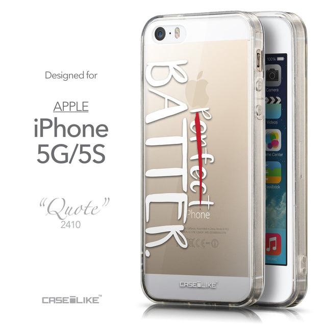 Front & Side View - CASEiLIKE Apple iPhone 5GS back cover Quote 2410