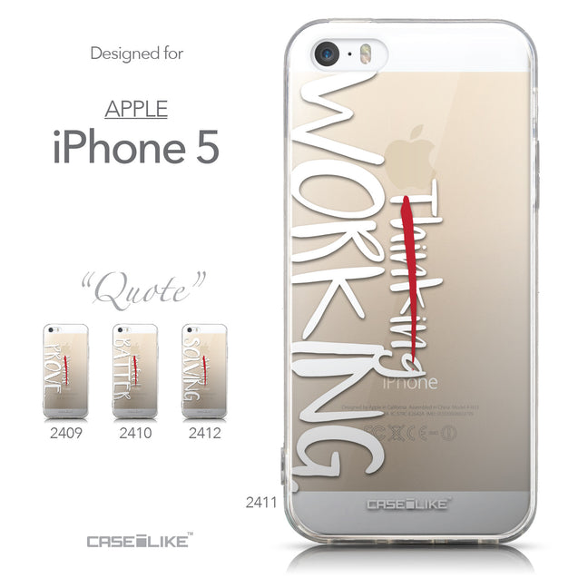 Collection - CASEiLIKE Apple iPhone 5GS back cover Quote 2411