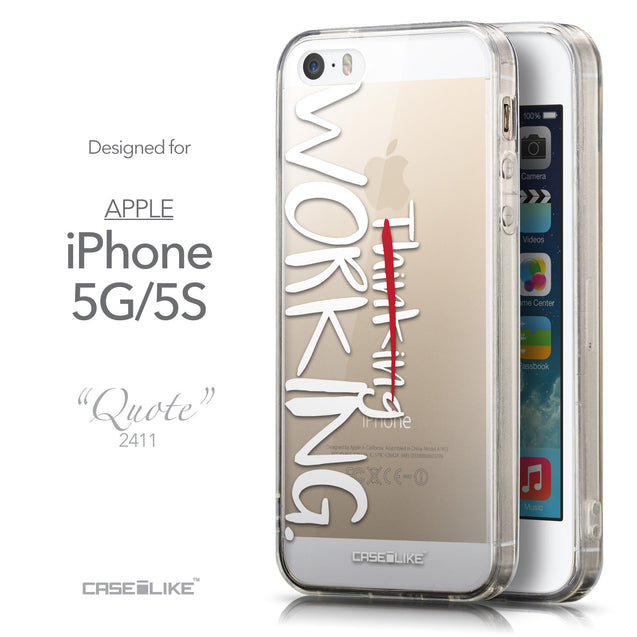 Front & Side View - CASEiLIKE Apple iPhone 5GS back cover Quote 2411