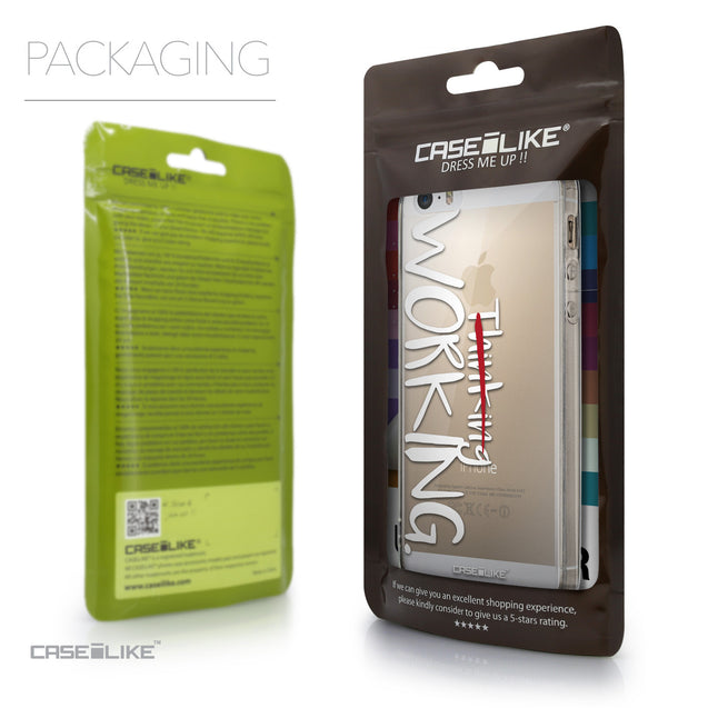 Packaging - CASEiLIKE Apple iPhone 5GS back cover Quote 2411