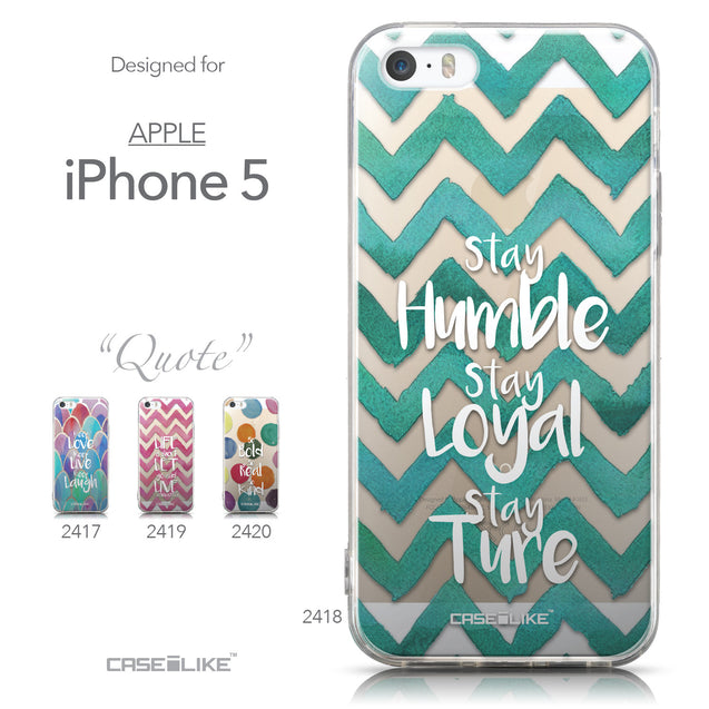 Collection - CASEiLIKE Apple iPhone 5GS back cover Quote 2418
