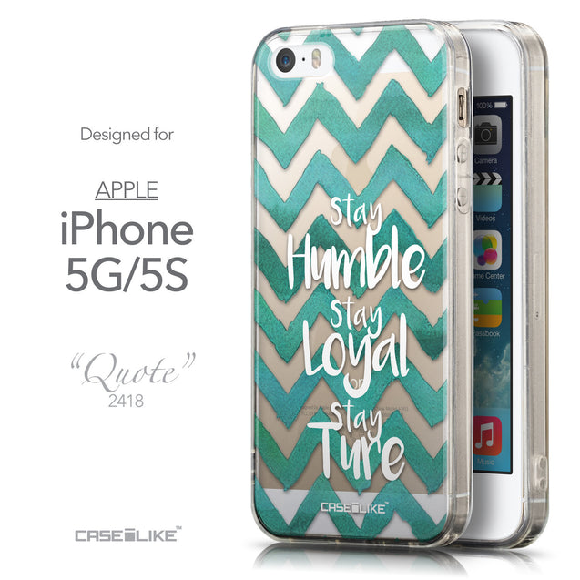 Front & Side View - CASEiLIKE Apple iPhone 5GS back cover Quote 2418