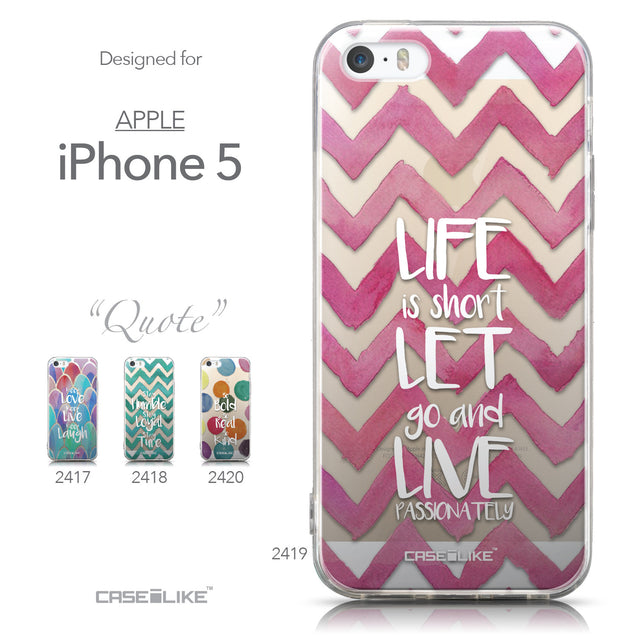 Collection - CASEiLIKE Apple iPhone 5GS back cover Quote 2419