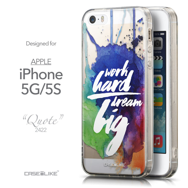 Front & Side View - CASEiLIKE Apple iPhone 5GS back cover Quote 2422