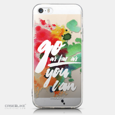 CASEiLIKE Apple iPhone 5GS back cover Quote 2424