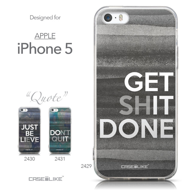 Collection - CASEiLIKE Apple iPhone 5GS back cover Quote 2429