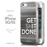Front & Side View - CASEiLIKE Apple iPhone 5GS back cover Quote 2429
